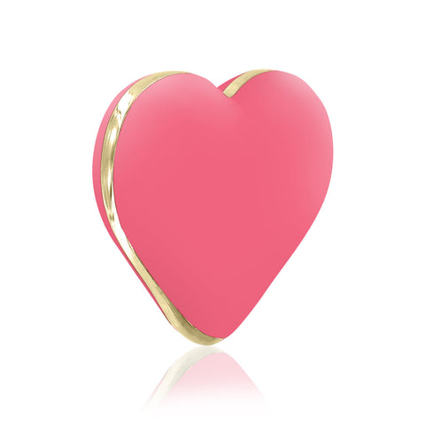 Heart Vibrator in Coral Rose