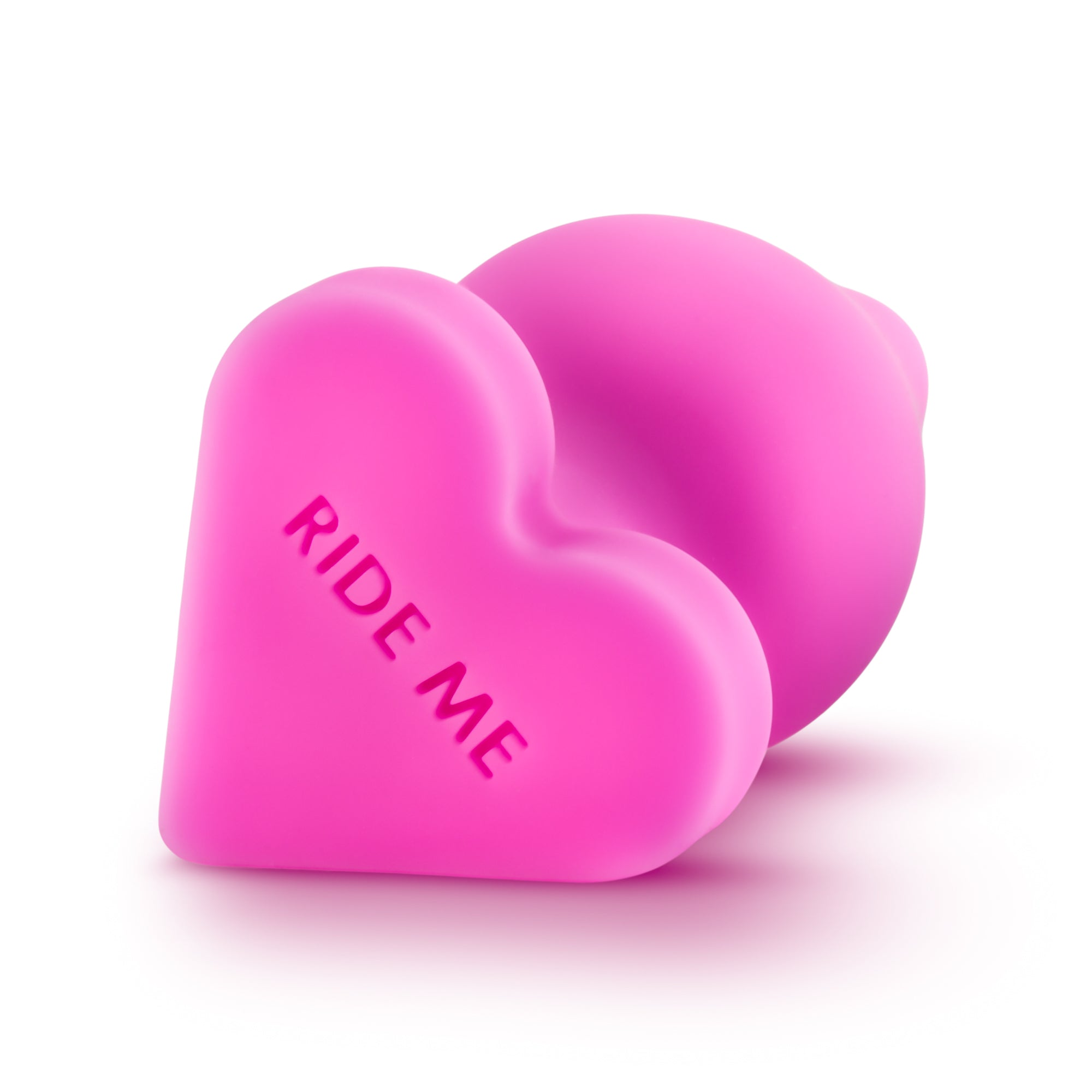 "Naughty Candy Hearts Buttplug ""Ride Me"" in Pink"