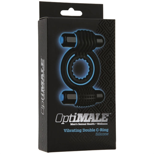 Optimale Vibrating Double C Ring in Black