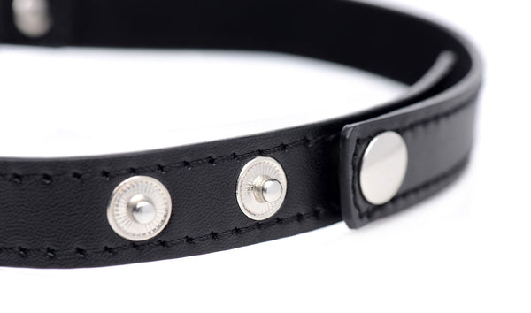 Heart Chrome Choker in Black