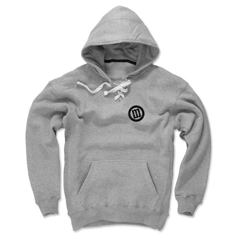 Mens Lace Hoodie Gray