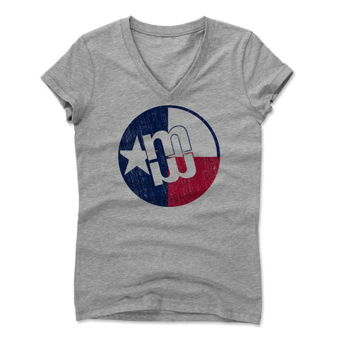 Womens Women's V-Neck Athletic Gray
