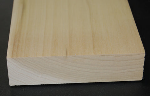 "1-1/4"" x 5"" RAW Solid Poplar Flat Stock"