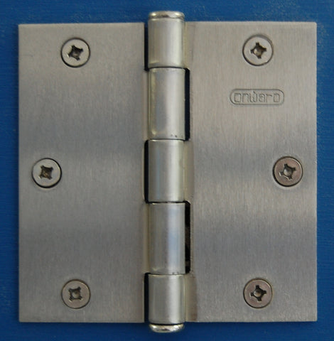 "3-1/2"" x 3-1/2"" Brush Nickel Square Hinge Door Hardware"