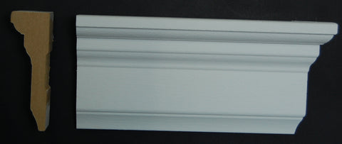 "3-1/2"" x 1-1/8"" MDF Primed Step Chair Rail"