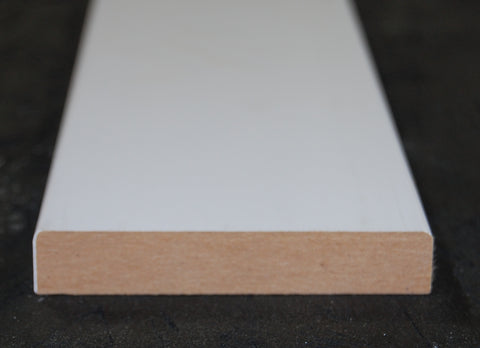 "3-1/2""X 1/2"" MDF Primed 3 Sides Flat Stock"