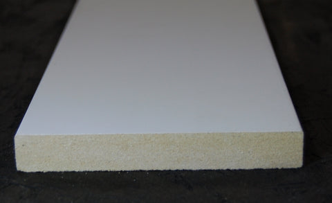 "3-1/2""x5/8"" MDF Primed 3 Sides Flat Stock"