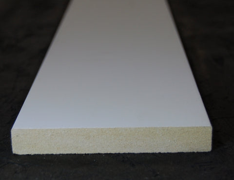 "4-1/2""x 5/8"" MDF Primed 3 Sides Flat Stock"
