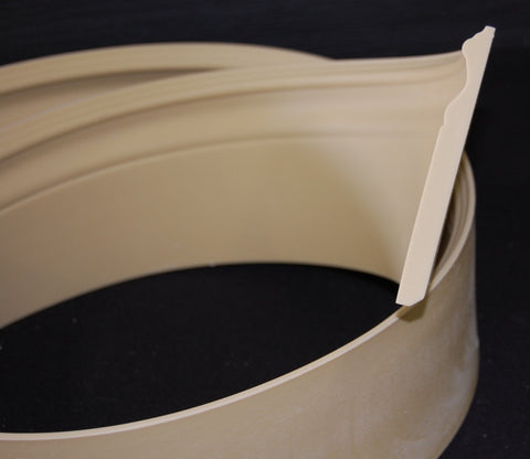 "5-1/4"" x 1/2"" Polyurethane Colonial Base Flexible Moulding"