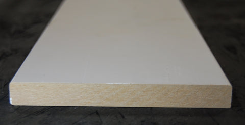 "5-3/8"" x 5/8"" MDF Primed 3 Sides Flat Stock"