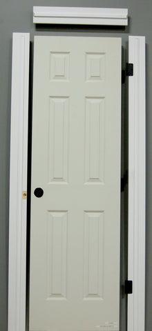 "1-3/8"" x 80"" - 6 Panel Wood Grain Hollow Core, Pre- Machined w/ Primed  4-9/16"" MDF Jamb Doors"