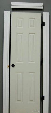 "1-3/8"" x 80"" - 6 PANEL WOOD GRAIN Hollow Core, Pre- Machined w/ Primed  4-5/8"" FINGER JOINT Jamb Doors"