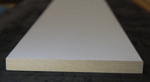 "7-1/4"" x 5/8"" MDF Primed 3 Sides Flat Stock"