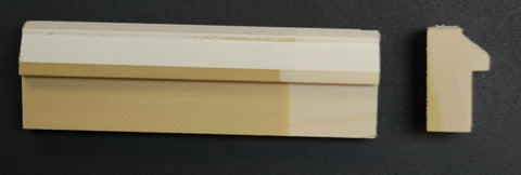 "1-1/4"" x 3/4"" Poplar Primed Contemporary Backbend Trim"