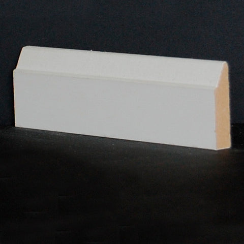 "1-3/8"" x 3/8"" Primed Finger Joint Pine  Contemporary Shoe Doorstop Trim"