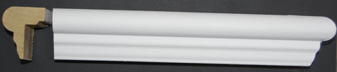 "1-5/16"" x 1-3/4"" Finger Joint Poplar Primed Wainscot Top Cap"