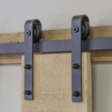 6.6ft - Sliding Barn Door Kit, J-Shape Hangers Barn Door Hardware