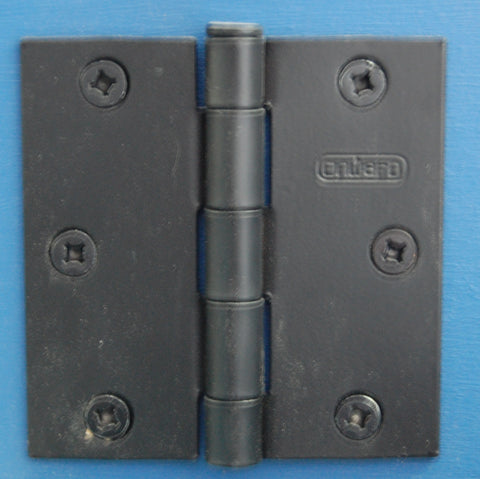 "3"" x 3"" Square Flat Black Hinge Door Hardware"