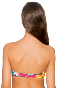Sunsets Iconic Twist Bandeau Bikini Native Blooms 55EFGH