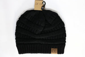 C.C Classic Cable Knit Beanie Hat-20A