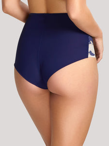 Panache Clara High-Waisted Brief Navy 7254