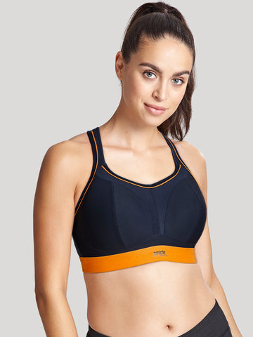 Panache Wire-Free Sports Bra 7341B - Navy/Orange