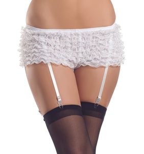 Be Wicked Ruffled shorts with attached garter straps