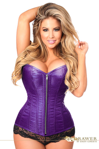 Daisy Corsets Top Drawer Purple Brocade Steel Boned Corset TD-803