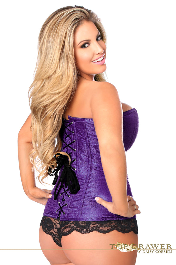 d271304593d ... Daisy Corsets Top Drawer Purple Brocade Steel Boned Corset TD-803 ...