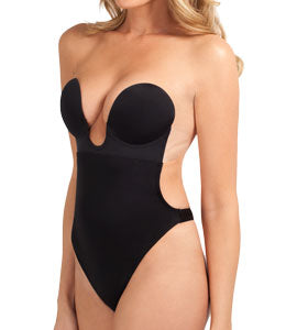 U Plunge Backless Strapless Bodysuit 29053