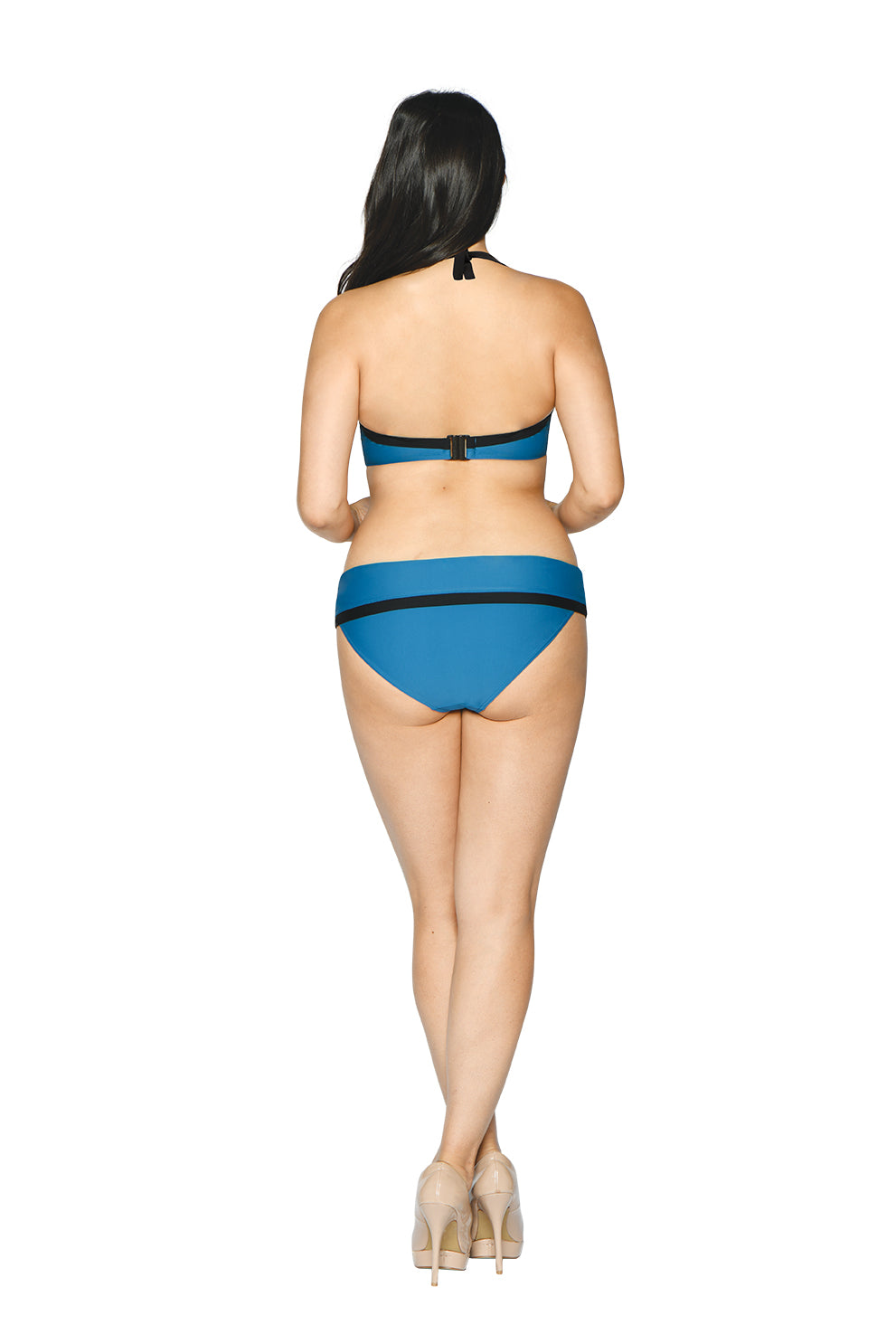 Curvy Kate Rock The Pool Petrol Blue Foldover Brief CS002503