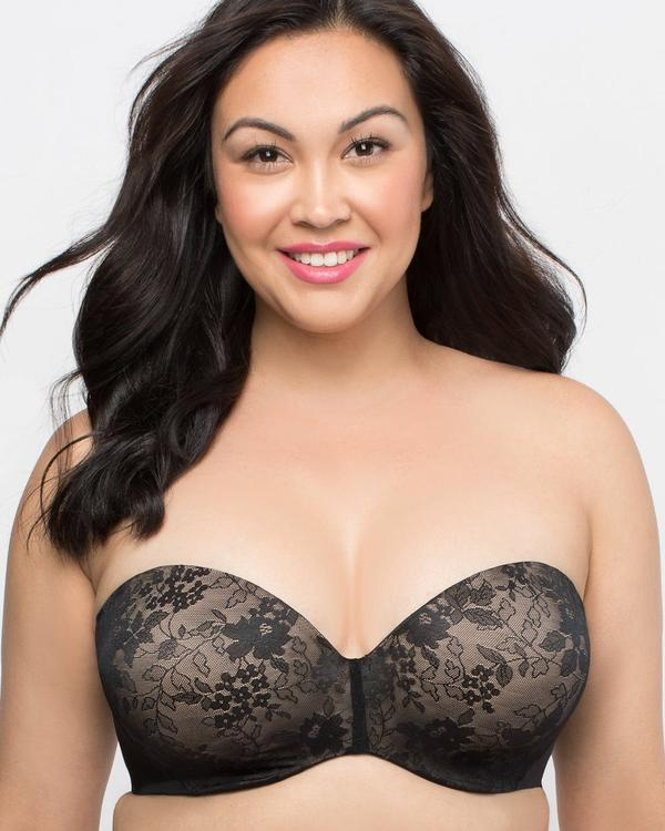 Curvy Couture Strapless Sensation Multi-Way Push-Up Bra 1211