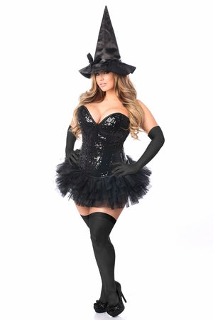Top Drawer 4 PC Sexy Witch Corset Costume TD-974