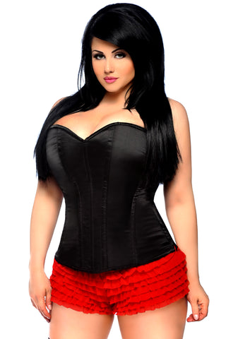 Daisy Corsets Lavish Sweetheart Side Zipper Corset Black LV-82, White LV-87