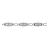 Golconda Diamond and Emerald Bracelet