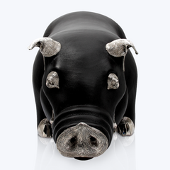 Brown Leather Pig Stool