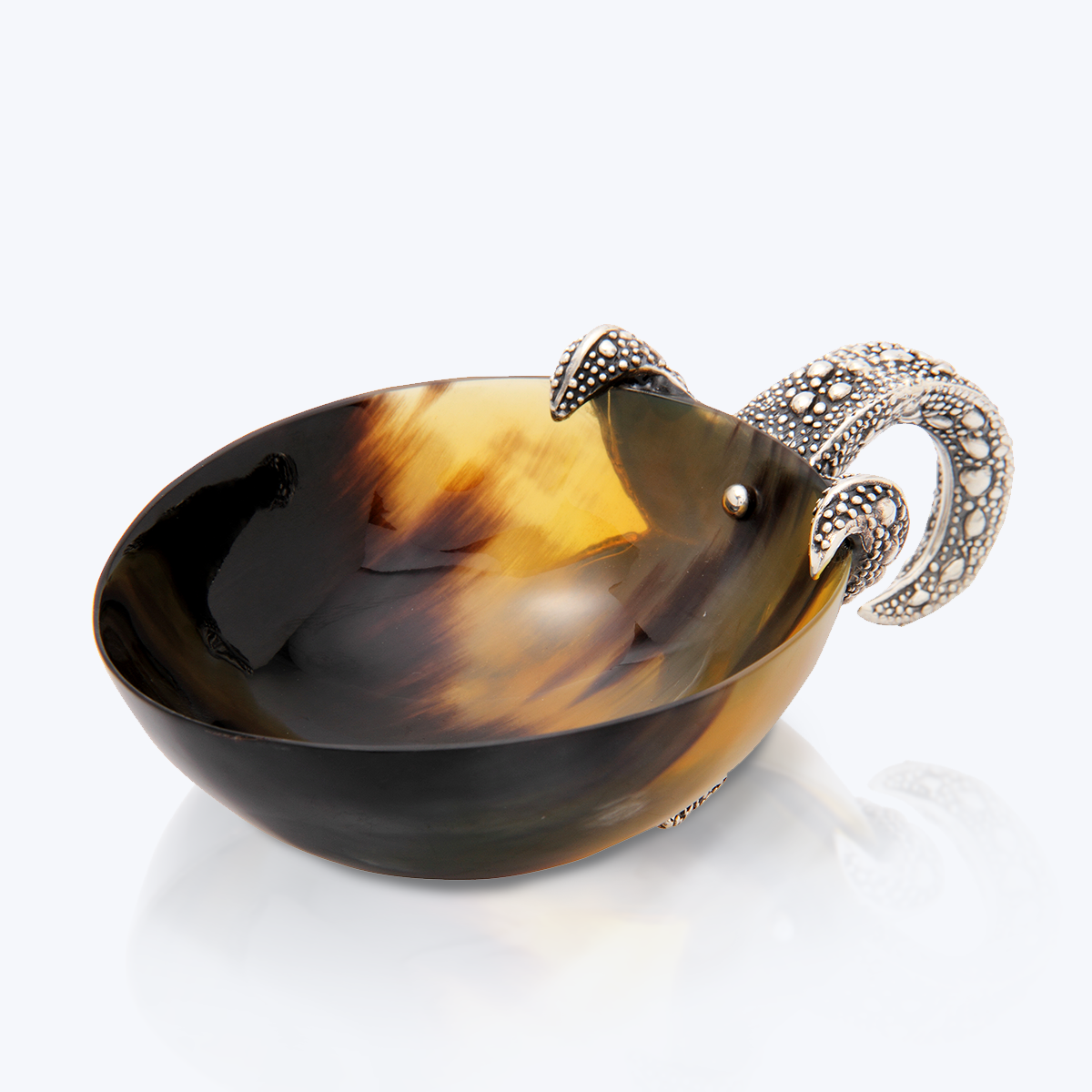 Buffalo Horn Bowl with Silver Starfish