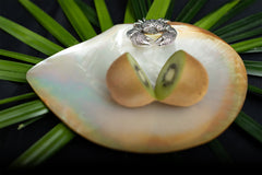 Mother of Pearl Plate with Silver Hermit Crab