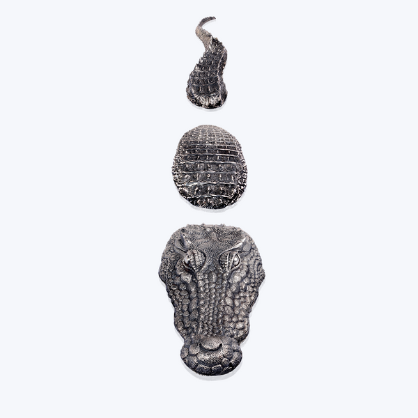 Sterling Silver Floating Crocodile