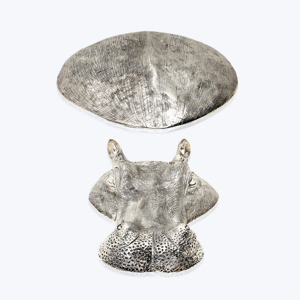 Sterling Silver Floating Hippo