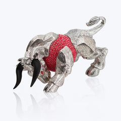 Pink Galuchat Bull Paper Weight
