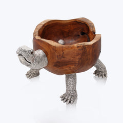 Turtle Teak Wood Bowl