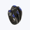 Carbon fiber ring with Lapis Lazuli
