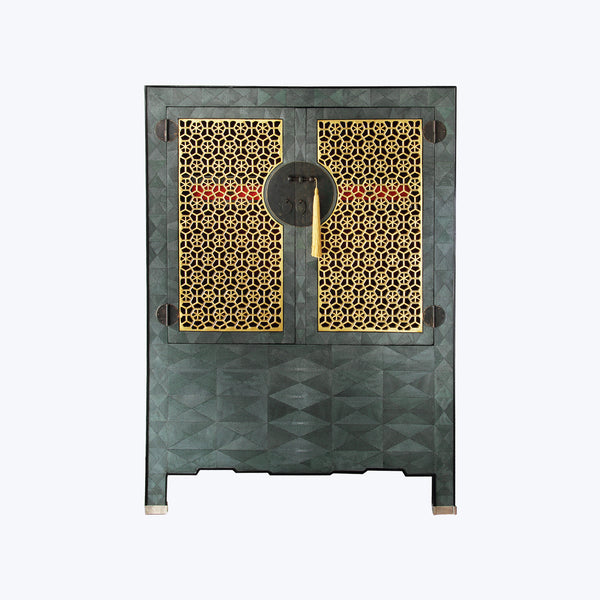 Chinese Galuchat Cabinet
