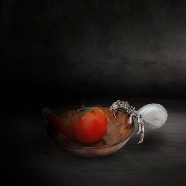 Brown Shell bowl with Silver Hermit crab
