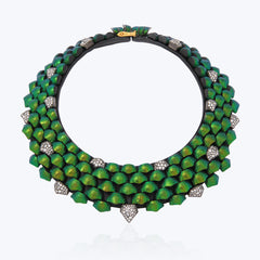 Scarab Necklace with Diamond wt. 142.31 g.