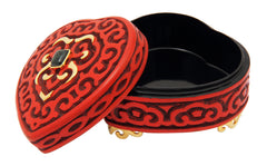 Red Lacquer box with Maw Sit Sit