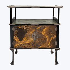 Japanese Lacquer Cabinet with Galuchat