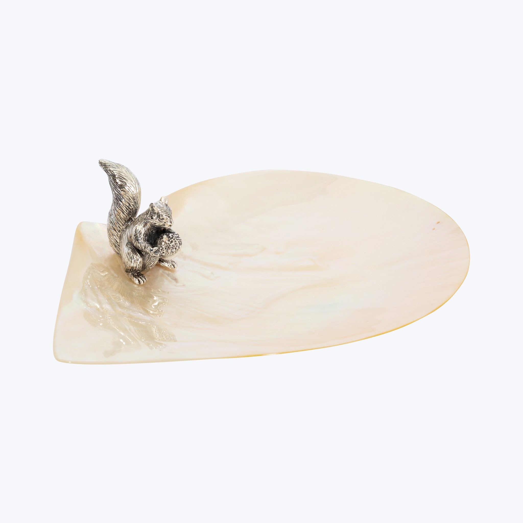 Mother of Pearl Plate with Squirrel