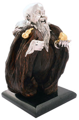 Wooden Shou Sculpture